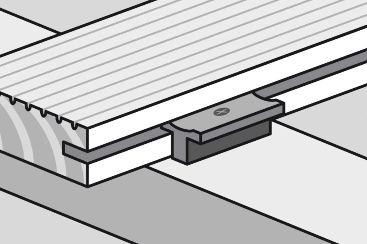Unterkonstruktion von Holzterrassen Verlegetechnik Verlegeclip
