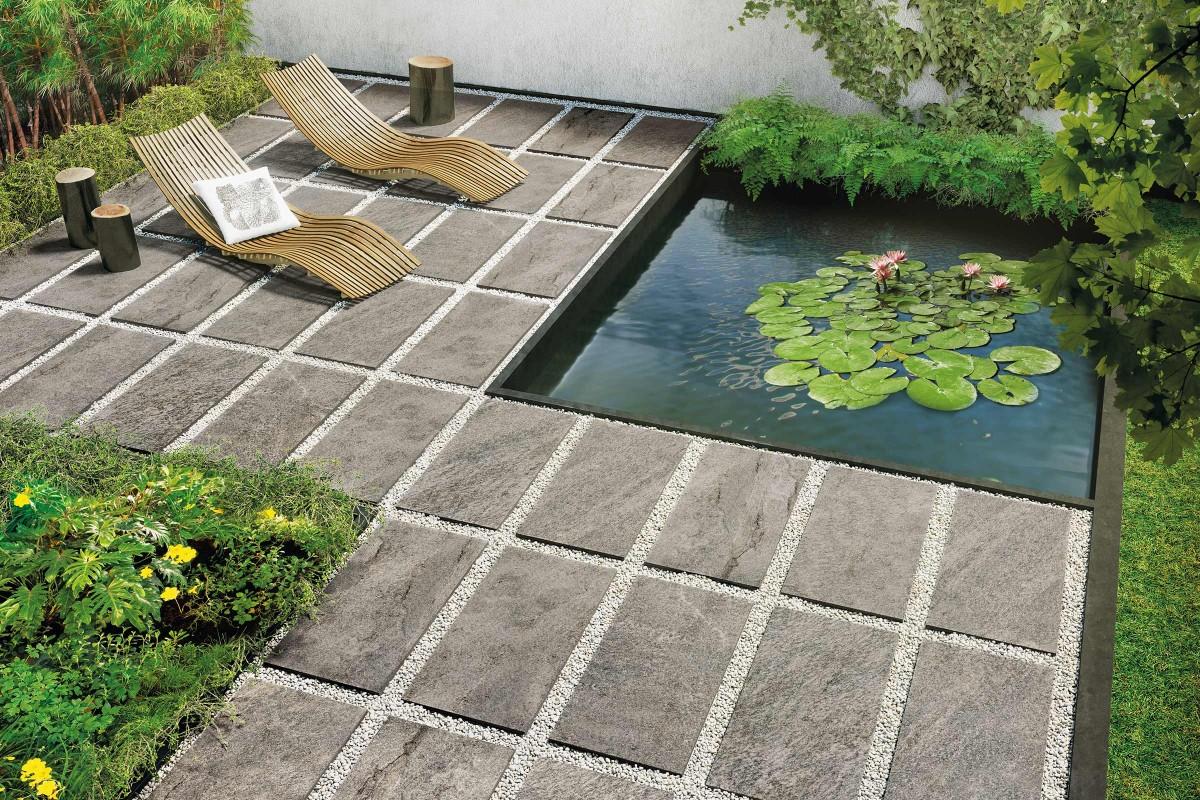 Inspiration Terrassenplatten Feinsteinzeug 11