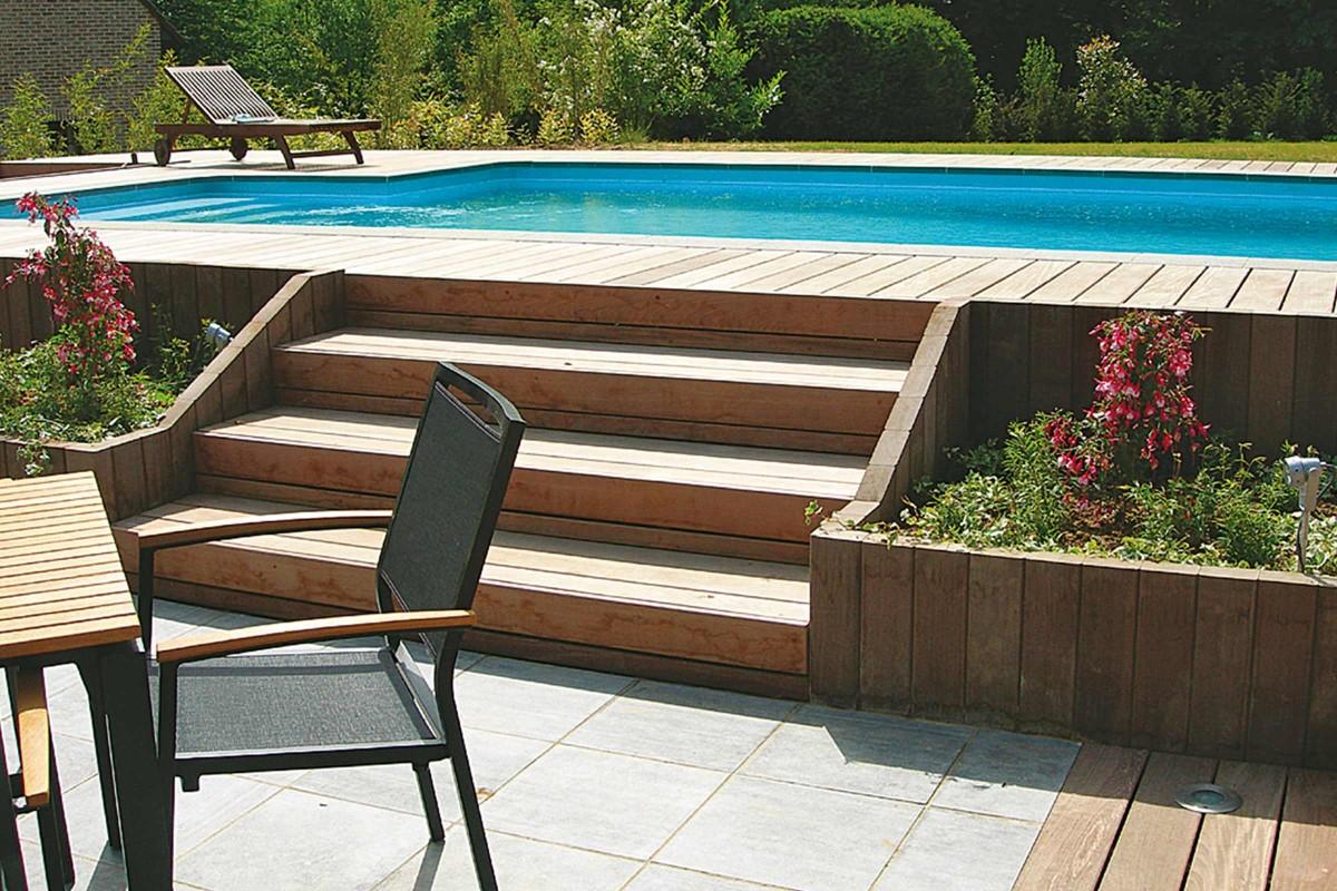 Inspiration Holz Stein Terrasse 2