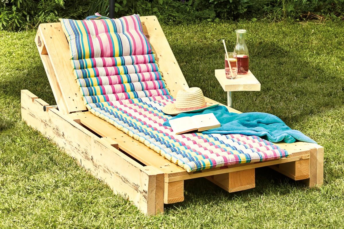 Steigerhouten loungebank ligstoel Jackie | HORNBACH