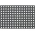 Deurmat rubber noppen zwart 40x60 cm