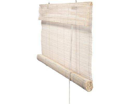Rolgordijn bamboe wit 140x180 cm