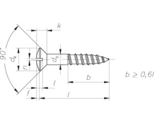 DRESSELHAUS Houtschroef lenskop sleuf 3,5x16 mm DIN 95 messing brons, 25 stuks