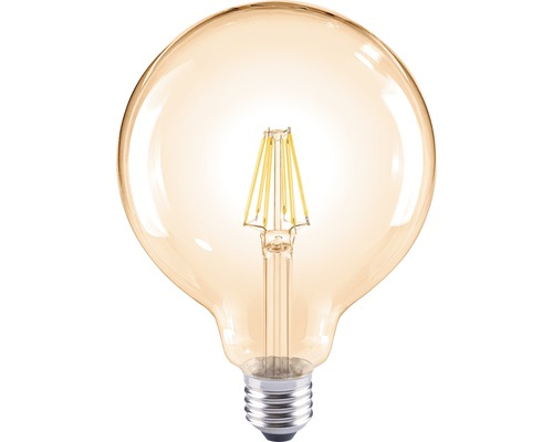 FLAIR LED Filament lamp E27/8W globevorm amber G120