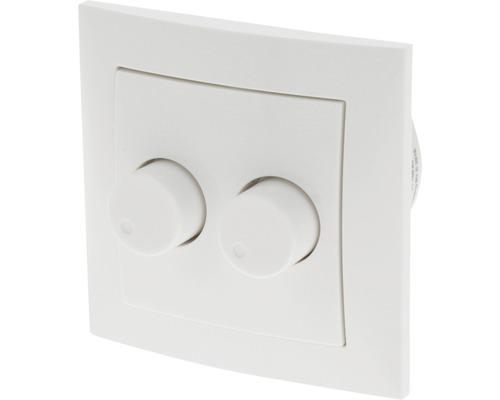 EXIN Inbouw basiselement duodimmer met Berker S1 dimmerknop voor LED lampen 6-50 W polar wit