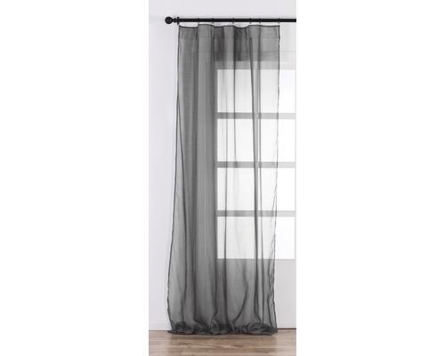 SOLEVITO Gordijn met plooiband Cambric antraciet 140x280 cm