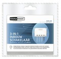 KLIKAANKLIKUIT® 3-in-1 Inbouw schakelaar ACM-3500-3 wit, max. 3500 Watt
