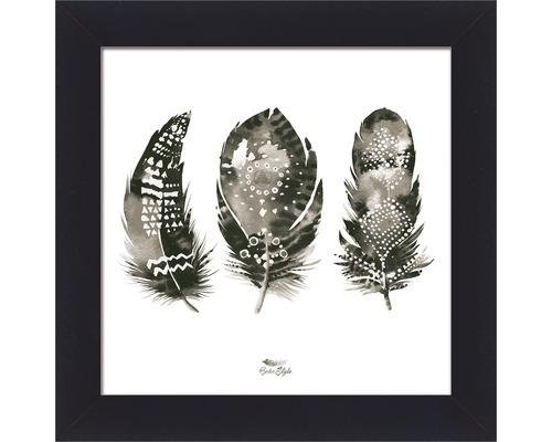 PURE LIVING Schilderij met lijst Feather III 38x38 cm