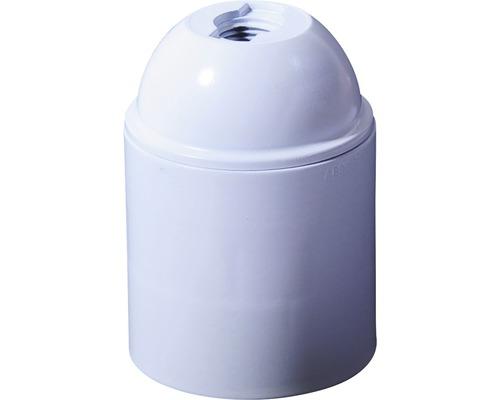 Lampfitting E27 kunststof wit