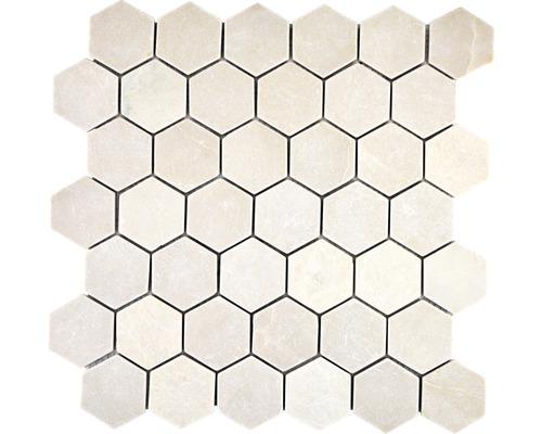 Natuursteen mozaïek HXN 13R hexagon beige 29,8x30,5 cm