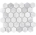 Keramisch mozaïek CTR HX21GM hexagon grijs mat 32,5x28,1 cm