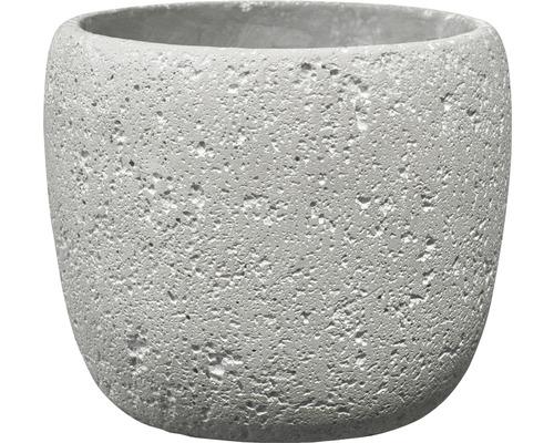 SOENDGEN Bloempot Bettona cement Ø 16 h 14 cm lichtgrijs