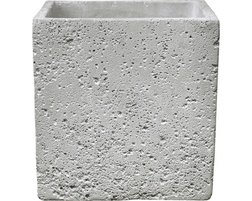 SOENDGEN Bloempot Latina Concrete cement 13x13x13 cm lichtgrijs
