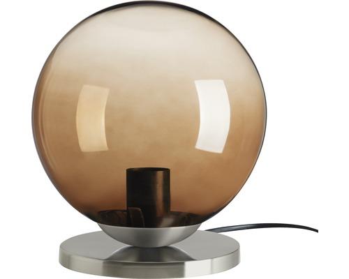 BRILONER Tafellamp Bol Ø 20 cm mat nikkel rookglas