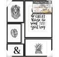 Collagelijst Great zwart 5-delig