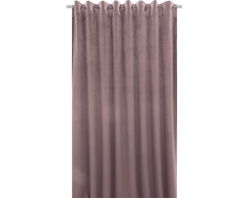 SOLEVITO Gordijn met plooiband Velvet roze 140x280 cm