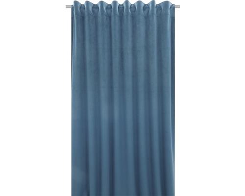 SOLEVITO Gordijn met plooiband Velvet blauw 140x280 cm