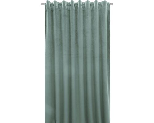 SOLEVITO Gordijn met plooiband Velvet mint 140x280 cm