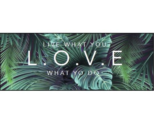 PURE LIVING Schilderij canvas Love 27x77 cm