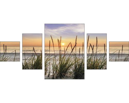 Pure Living Schilderij Canvas Beach Harmony 5 Delig Kopen Bij Hornbach