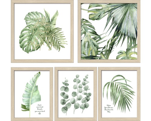 PURE LIVING Collagelijst 5-delig Green plant collection
