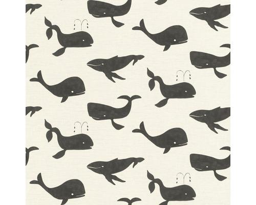 RASCH Vliesbehang 531503 Bambino XVIII walvissen zwart/wit