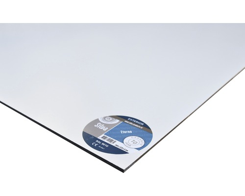 SILVA Eterno HPL plaat massief wit 1220x600x6 mm