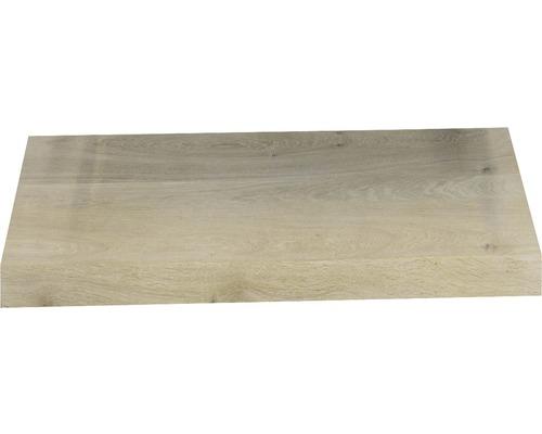 Wastafelblad massief eiken 80x46x4 cm met rechte kant