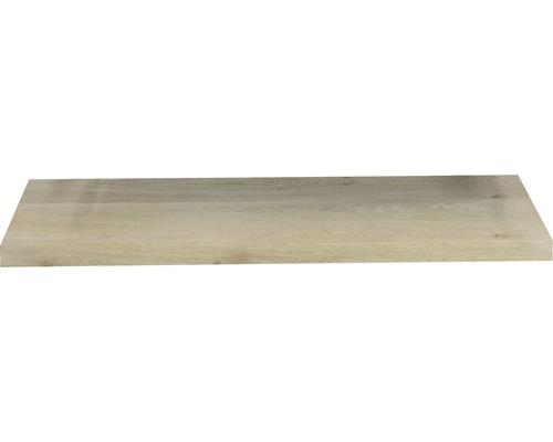 Wastafelblad massief eiken 120x46x4 cm met rechte kant
