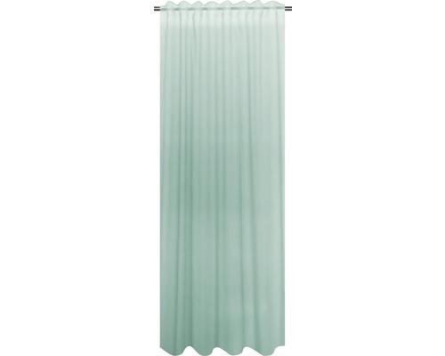 SOLEVITO Gordijn met plooiband Cambric mint 140x280 cm