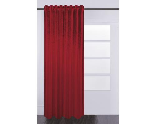 SOLEVITO Gordijn met plooiband Velvet rood 140x280 cm