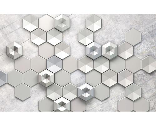KOMAR Fotobehang vlies 6004A-VD4 Hexagon Concrete 400x250 cm