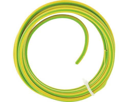 Installatiedraad VD 1x6,0 mm² geel/groen 2,5 m