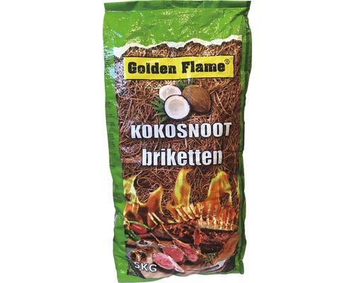 GOLDEN FLAME Kokosbriket 5 kg