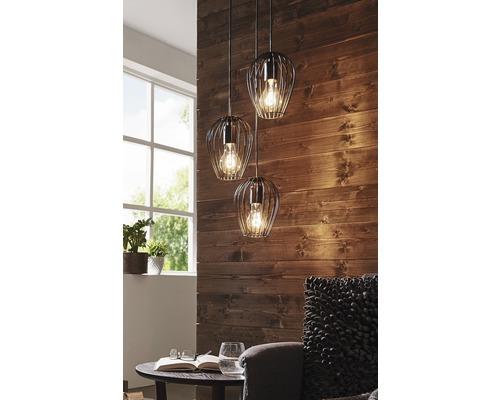 EGLO Hanglamp Newtown 3-lichts zwart
