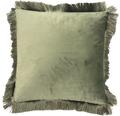 SOLEVITO Kussen Velvet groen 45x45 cm