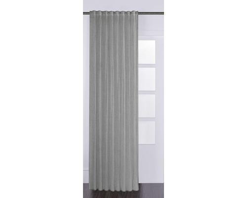 SOLEVITO Gordijn met plooiband Knitter grijs 125x280 cm