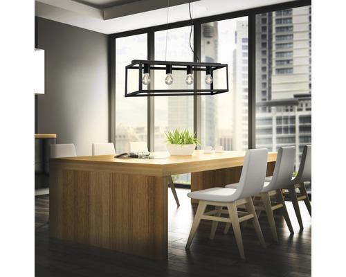 BRILONER Hanglamp Black Steel 4-lichts zwart