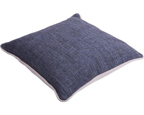 SOLEVITO Kussen Lin grijs/blauw 45x45 cm