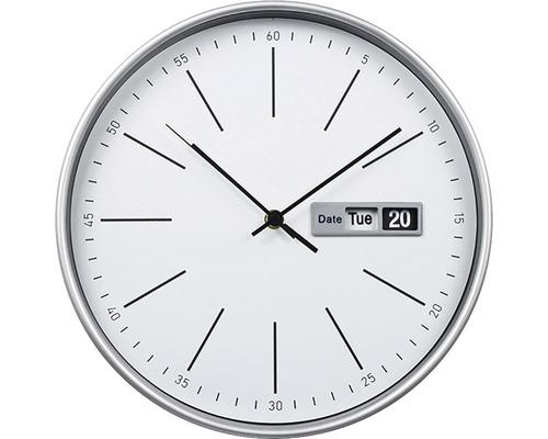 Klok met datum wit Ø 30 cm