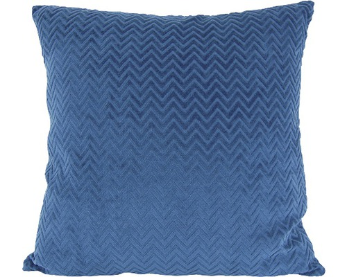 SOLEVITO Kussen Zigzag Blauw 43x43 cm