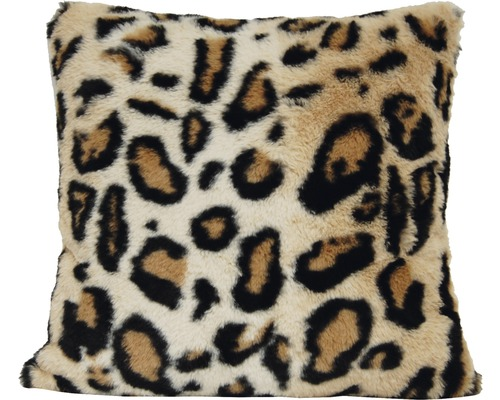 SOLEVITO Kussen Leopard Bruin 43x43 cm