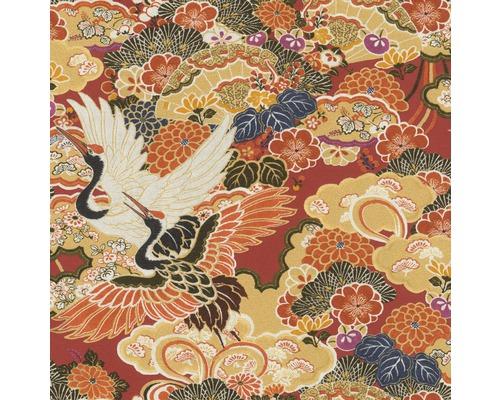 RASCH Vliesbehang 409345 Kimono bloemen geel