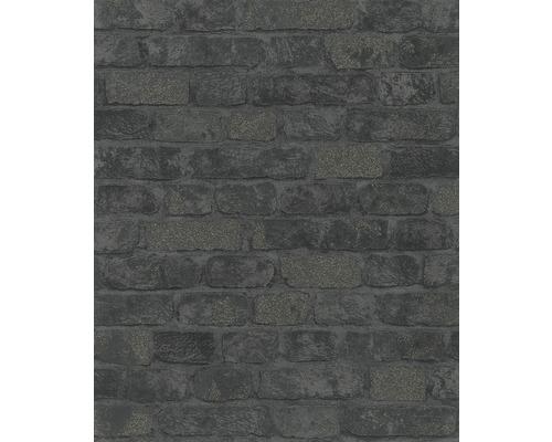 MARBURG Vliesbehang 58423 bakstenen zwart
