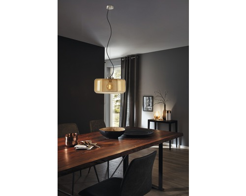BRILONER Hanglamp Ø 38 cm nikkel-amber