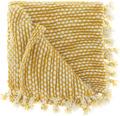 UNIQUE LIVINGPlaid Pipa geel 127x152 cm