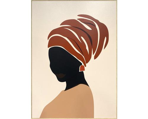 Schilderij met lijst African 51,2x71,2 cm