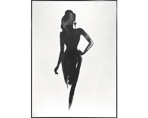 Schilderij met lijst Vrouw 51,2x71,2 cm