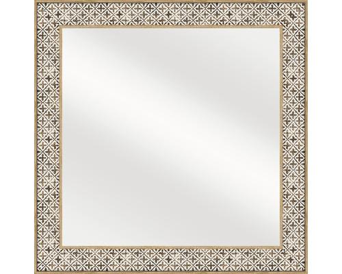Spiegel Moroccan hout 49x49 cm