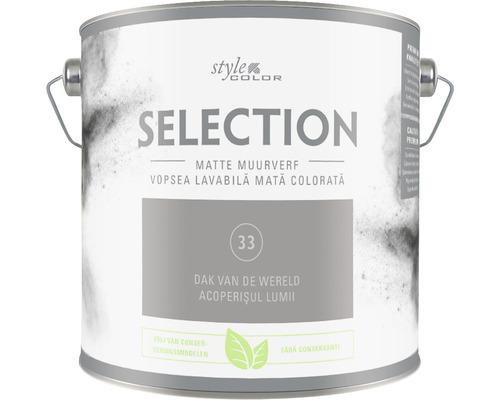 SELECTION StyleColor Muurverf kleur 33 Dak van de wereld mat 2,5 l